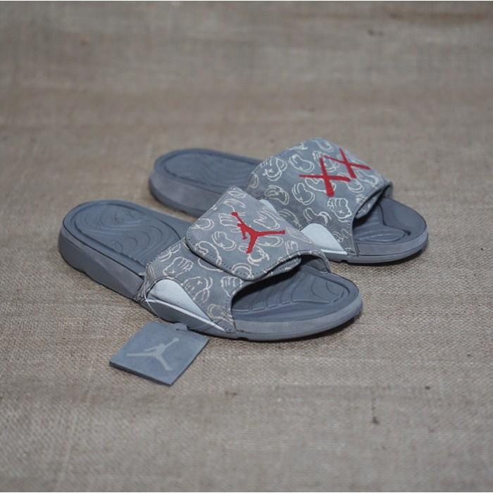7eeacd50340aed Termurah Sandal Sendal Nike Air Jordan Hydro 4 Slide X Kaws Grey Abu Best  Buy
