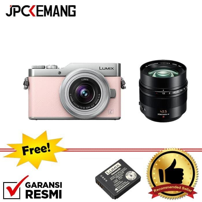 Panasonic Lumix GF9 Kit 12-32mm Pink + Panasonic 42.5mm f/1.2 Leica Nocticron GARANSI RESMI