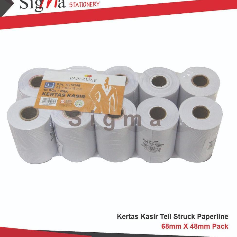 Kertas Struk / Kertas Kasir 75x65 , 44 x 65 , 58 x 48 , 58 x 65  PAPERLINE berbagai ukuran (pack) (A