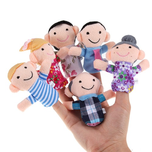 Boneka Jari Keluarga - Set isi 6 pcs - Family Finger Puppets ... 794ec2dd24