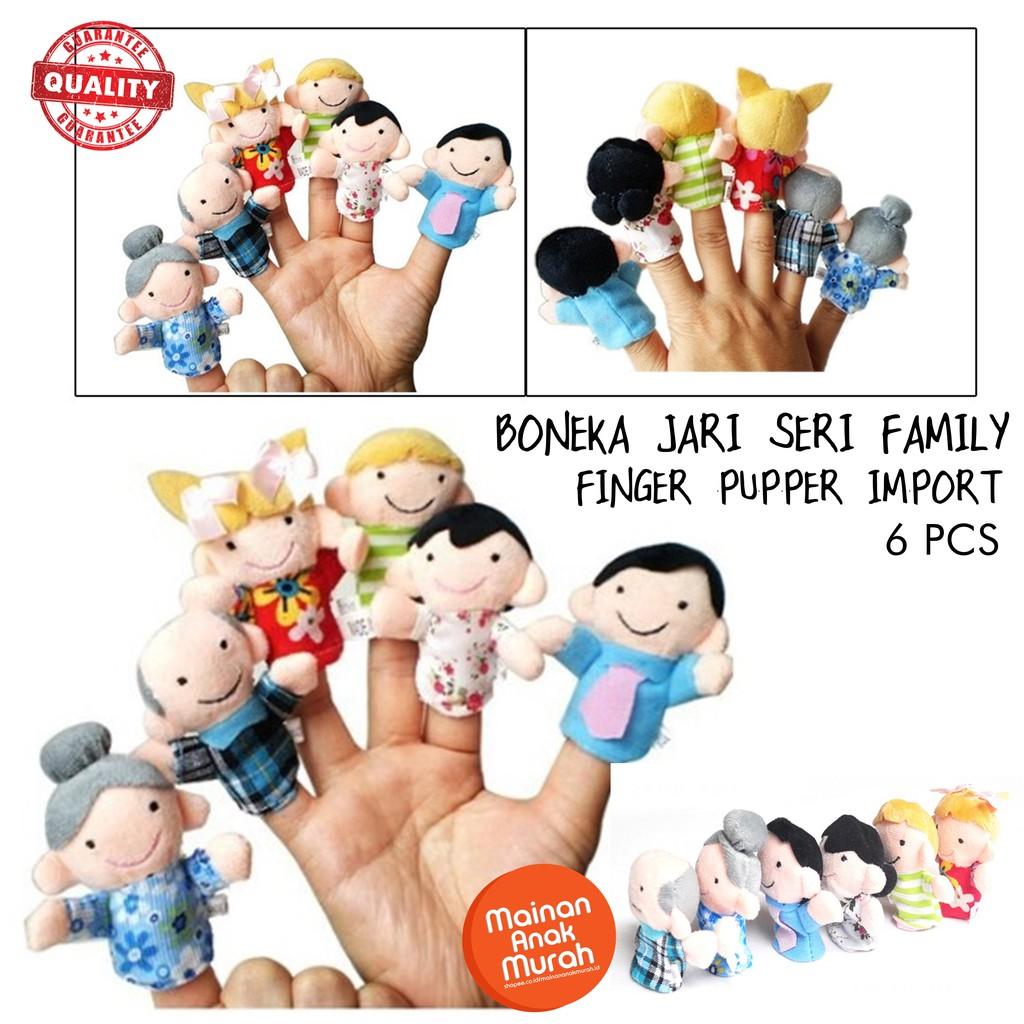 PAKET BONEKA JARI Tangan Finger puppet Animal Family Hewan Binatang Keluarga  shio laut mainan anak  ba7bc8e02e