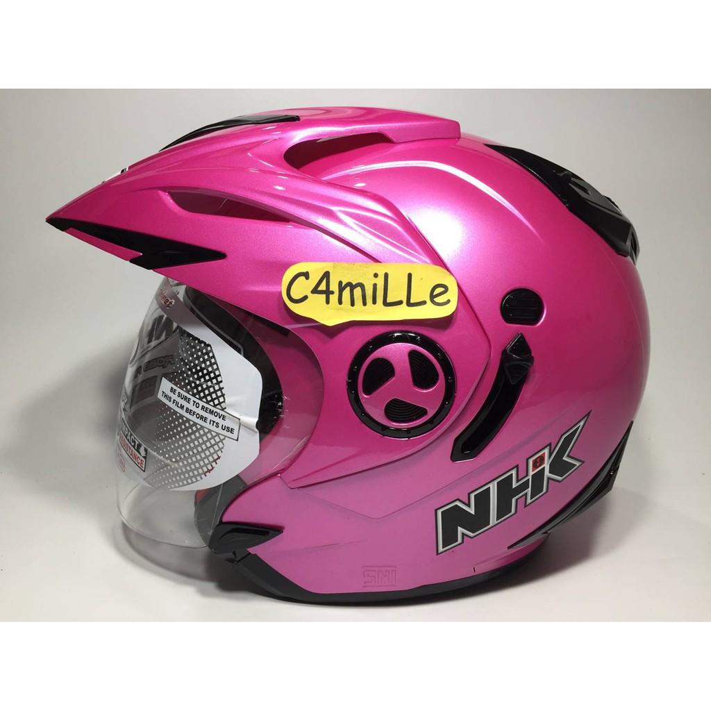Helm Nhk Terminator Road Orange Double Visor Full Face Shopee Gp1000 Xvision Yellow Indonesia