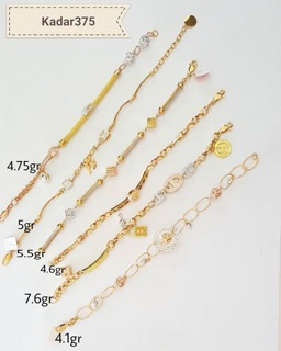 Perhiasan Gelang Emas Kadar 375 Disertai Surat Toko Emas Jagad Pekalongan Jagad Comal