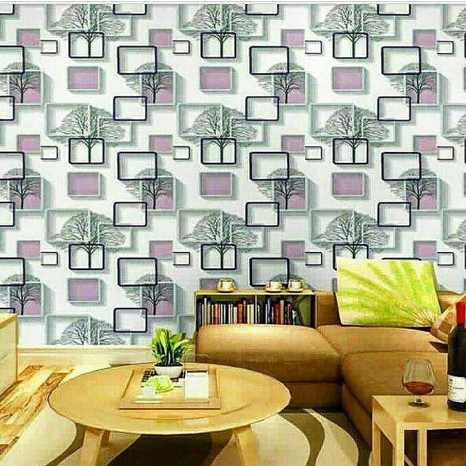 Wallpaper dinding bulan bintang .