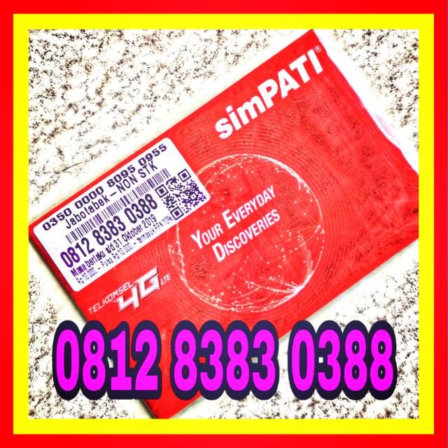 Nomor Cantik Simpati 8383 0388 Super Rapih awalan 0812 Murah Meriah   Shopee Indonesia