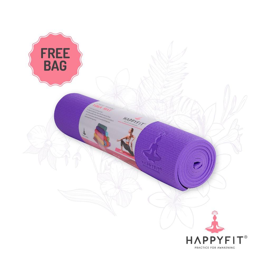Happyfit Matras Olahaga Nbr Royal Blue 10mm Exercise Gym Mat Yoga 8mm Tpe Rubber Eco Anti Slip Bag Limited Edition Strap Shopee Indonesia