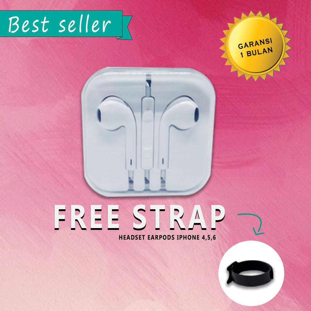 OEM Original EarPod Earphone Headset Remote & Mic Apple iPhone 4 4S 5 5S 5C 6 6S PLUS | Shopee Indonesia