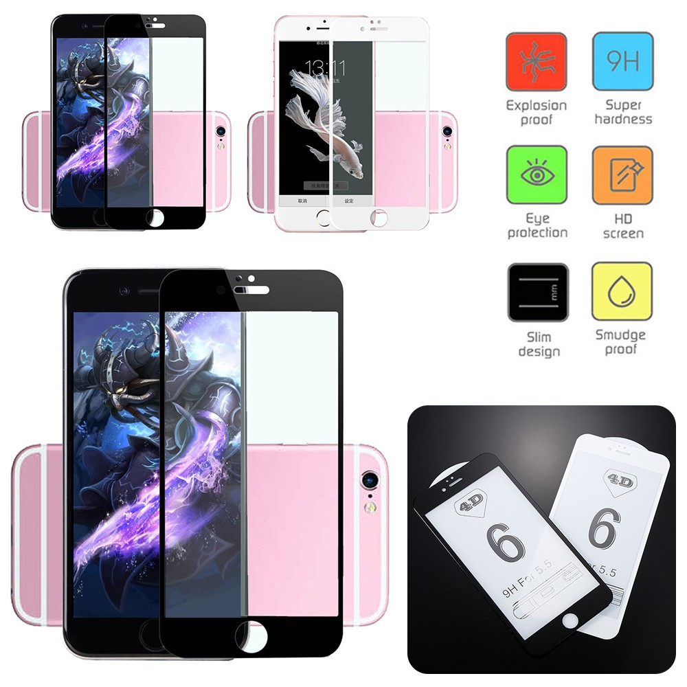 For Iphone 7 Plus Hd 3d Silk Screen Full Cover Tempered Glass Hikaru Anti Gores Glare Sony Xperia Z Ultra Clear Protector Shopee Indonesia