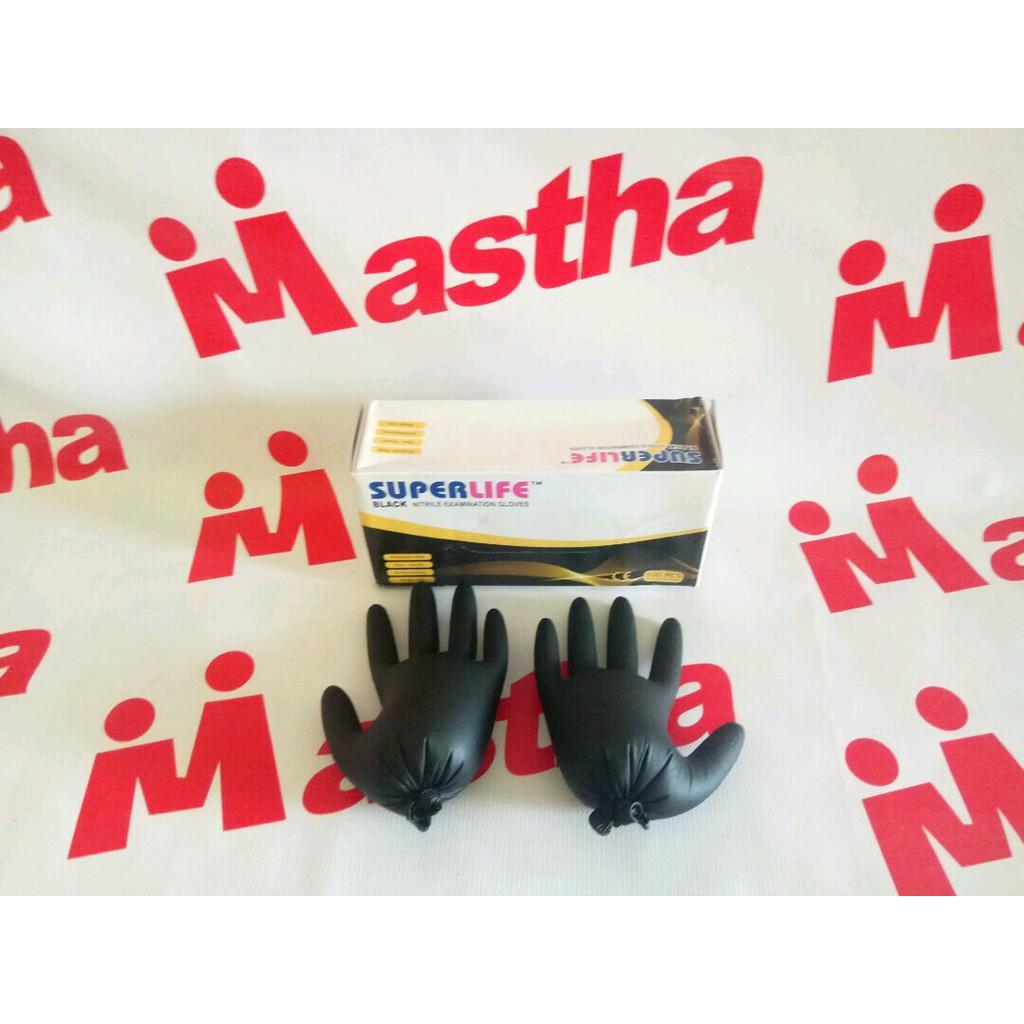 Handscoon Gloves Superlife Sarung Tangan Nitril Warna Hijau Teal Texgrip Hitam 1 Pasang Shopee Indonesia