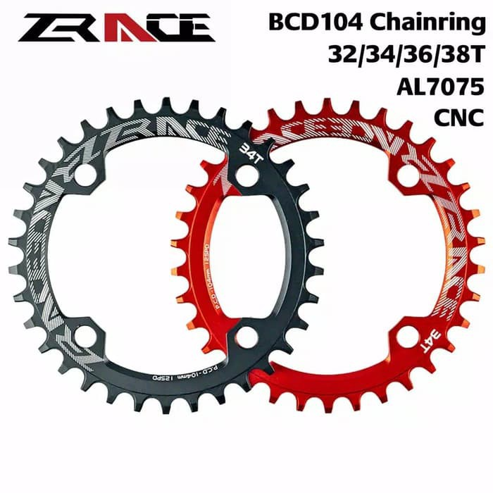 MTB Bike Single Narrow Wide Oval Chainring Chain Ring BCD 104mm 30 32 34 36 38T
