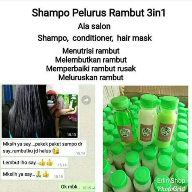 SHAMPOO PELURUS RAMBUT 3 IN 1 SHAMPO + CONDITIONER + HAIR MASK ... 029f918c57