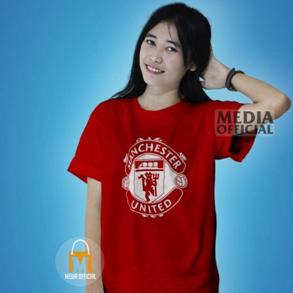 KAOS MANCHESTER UNITED LOGO MU Premium Jersey Club Bola Baju Supporter Red Devils MO1884 Laku