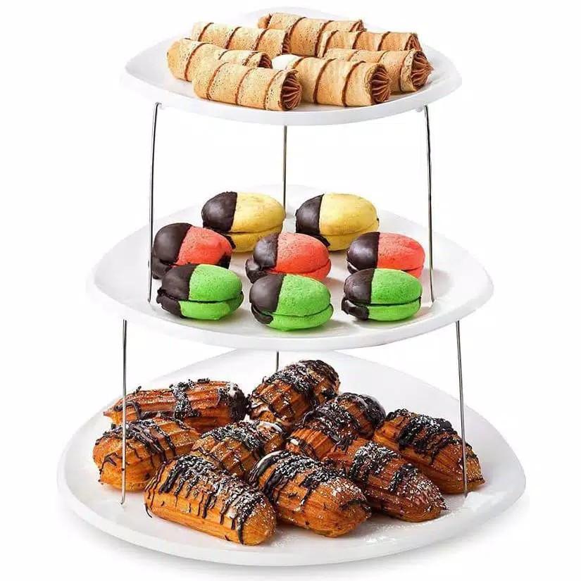 Party Plates Tier Rak Kue Cupcake Stand Tempat Snack Coklat