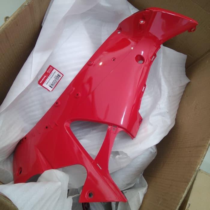 cover M/P supra x 125 merah kiri. 64450-KTM-850FMV