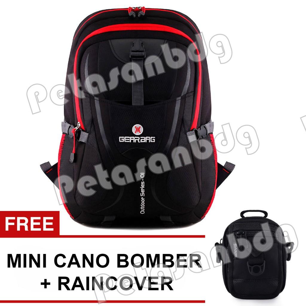 Gear Bag - Tarantula X28 - Black Red + FREE Tas Selempang Mini Cano Bomber |
