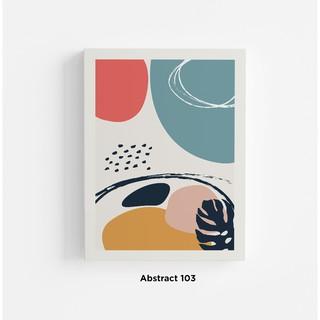 poster abstrak desain minimalis dekorasi dinding kamar