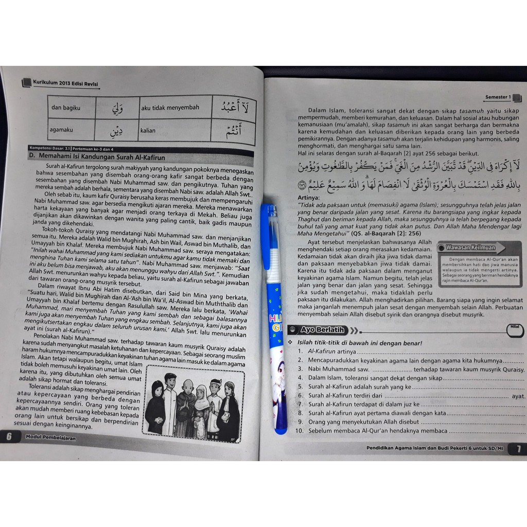 Lks Pendidikan Agama Islam Dan Budi Pekerti Pai Sd Mi Kelas 6 Semester 1 2020 2021 Eksis Shopee Indonesia