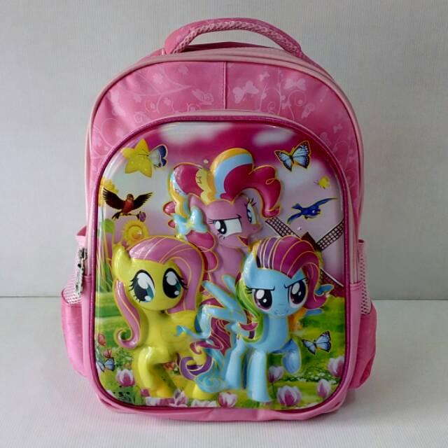 Tas sekolah Ransel anak SD My Little Pony Cute 6D Lampu Nyala Unik | Shopee Indonesia