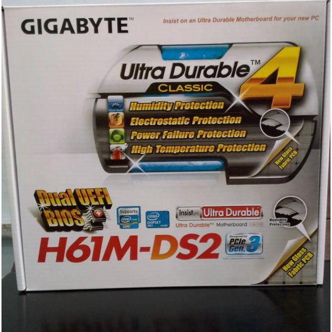 Flash Sale !!! Motherboard Gigabyte H61M-Ds2 Socket 1155 Ddr3