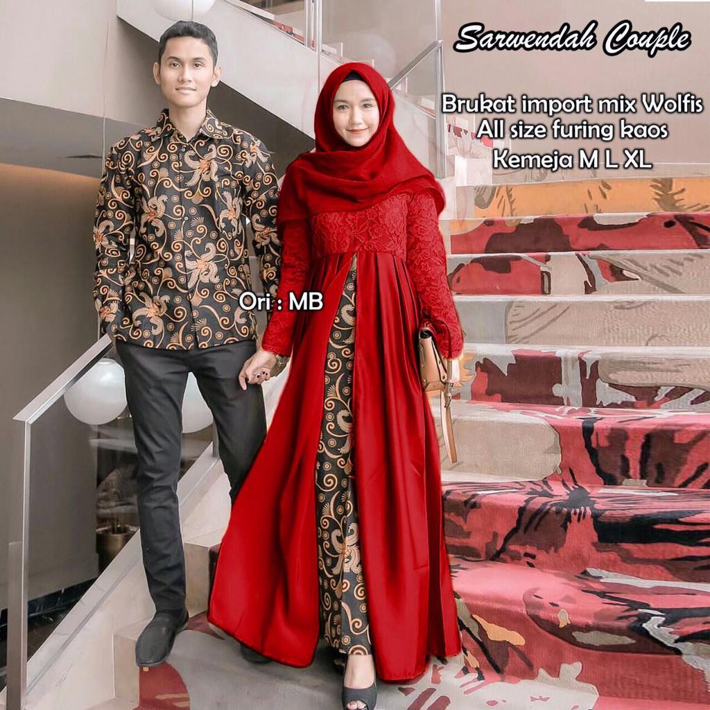 Sarimbit Batik Brokat Mix Wolfis Batik Couple [D]