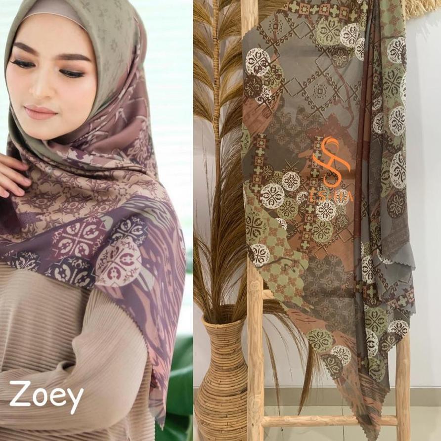 Original  Hijab Segi Empat Motif Termurah / Hijab Lasercut Voal Motif Berkualitas / Denay KW Motif Z