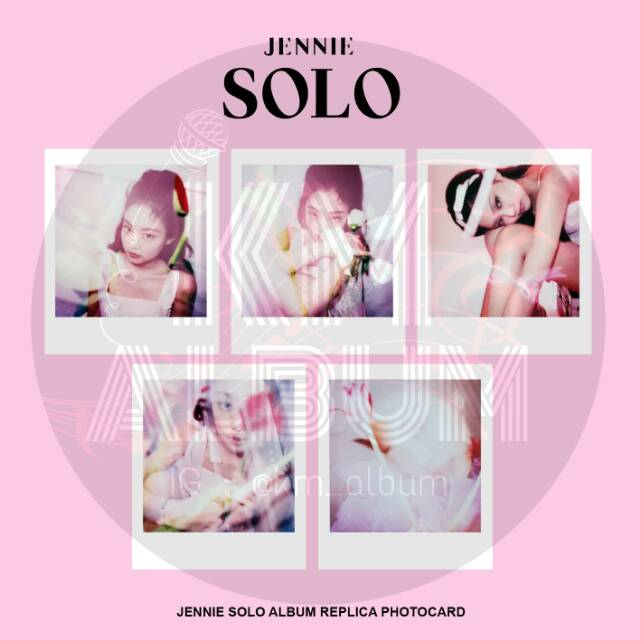 Download Jennie Solo Ilkpop: SOLO ALBUM REPLICA PHOTOCARD SET