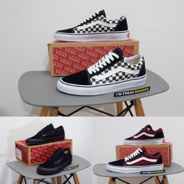 Sepatu Sneakers Desain Vans Old Skool Ukuran 36-44 untuk Pria ... 3e7feb1873