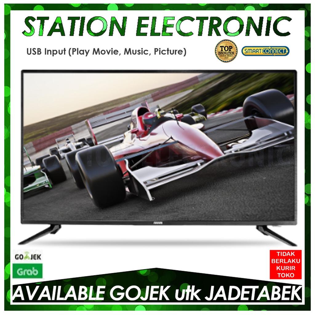 Akari 53V40D LED TV 40 Inch - Digital TV/Smart Connect - Gojek/Grab