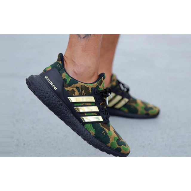 Sepatu sneakers running pria | Adidas Ultraboost x Bape | premium original