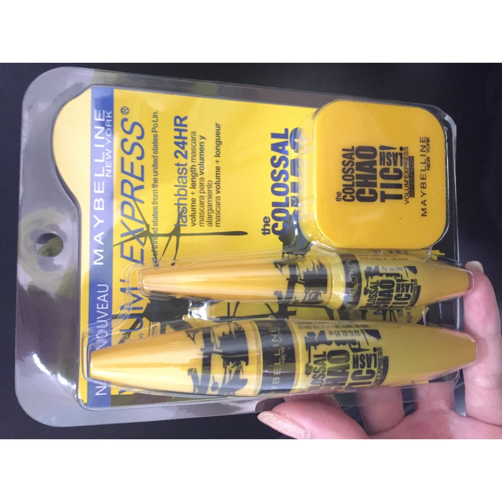 Mascara Maybeline 3in1 Maskara Maybelline 3 In 1 Maybelin Colossal Mayne Go Extreme 24hr Bedak Compact Powder Shopee Indonesia