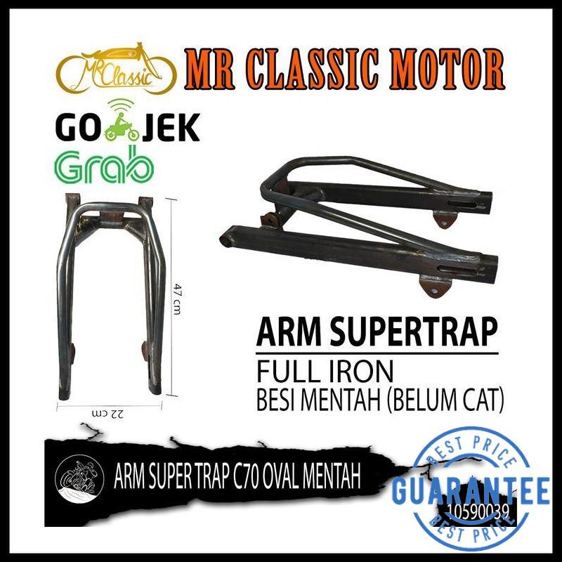 Swing Arm Custom Variasi Supertrap C70 Oval Mentah