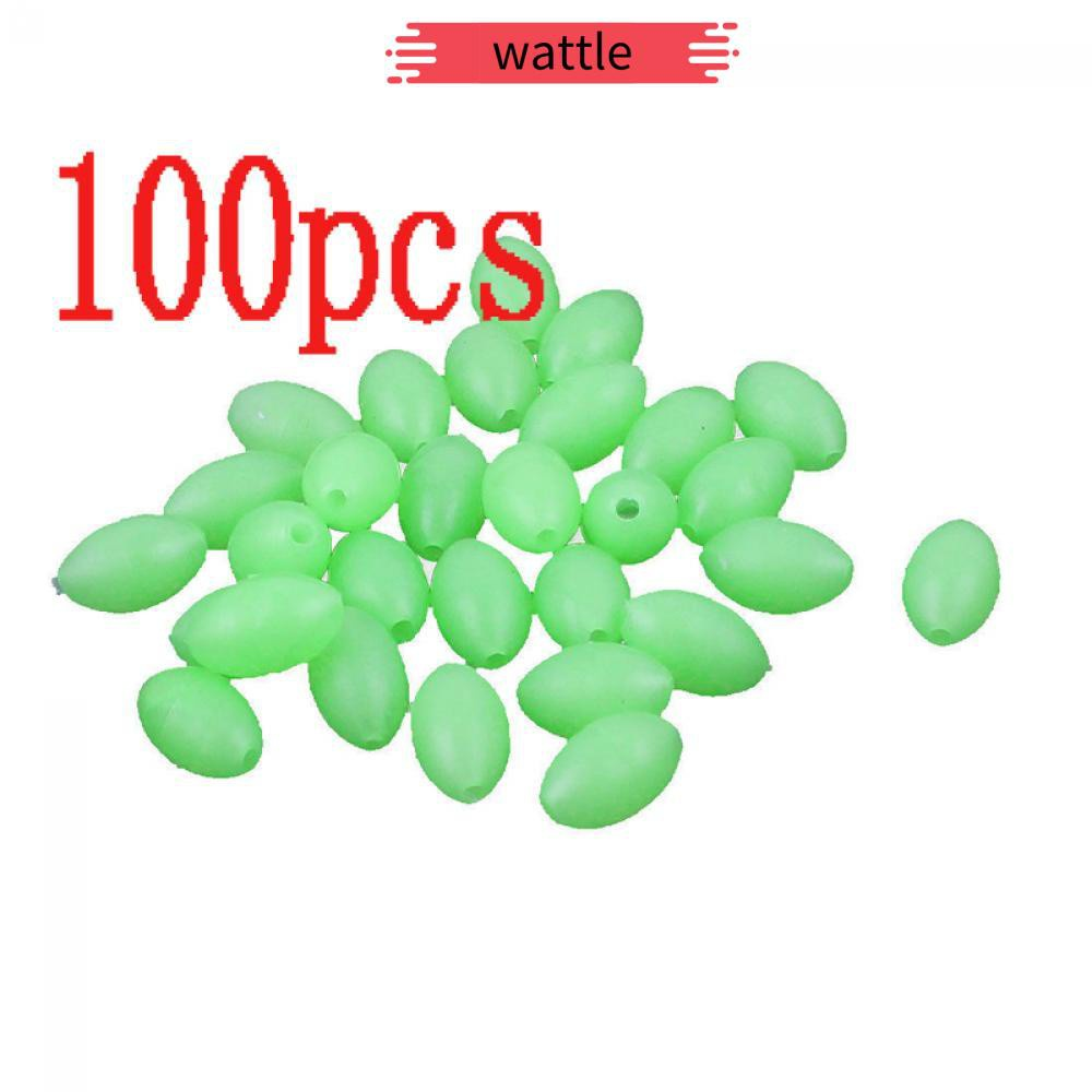5mm X 3.4m Plastic fishing Lures Luminous Beads Glow In The Dark Oval Shaped