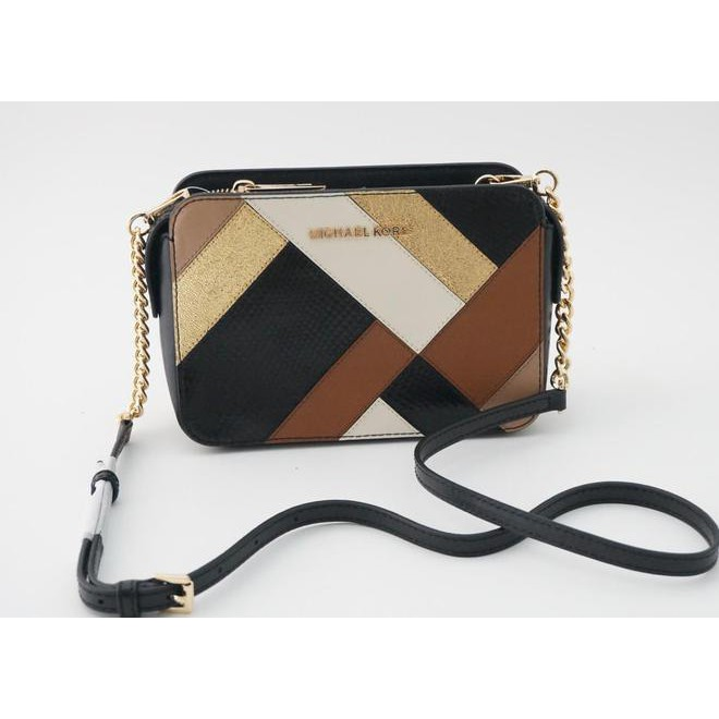 48668289c5dc BANTING HARGA !!! MICHAEL KORS ADELE SMALL CROSSBODY BLACK MULTI TAS MK  ORIGINAL GROSIR | Shopee Indonesia