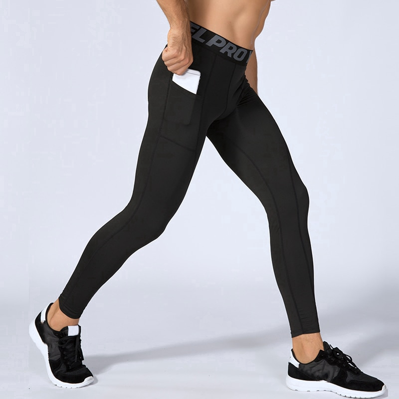 Promotion Fitness Legging For Men Pants Pockets Athletic Football Training Jogging Gym Workout Trousers Sports Leggings Running Shopee Indonesia