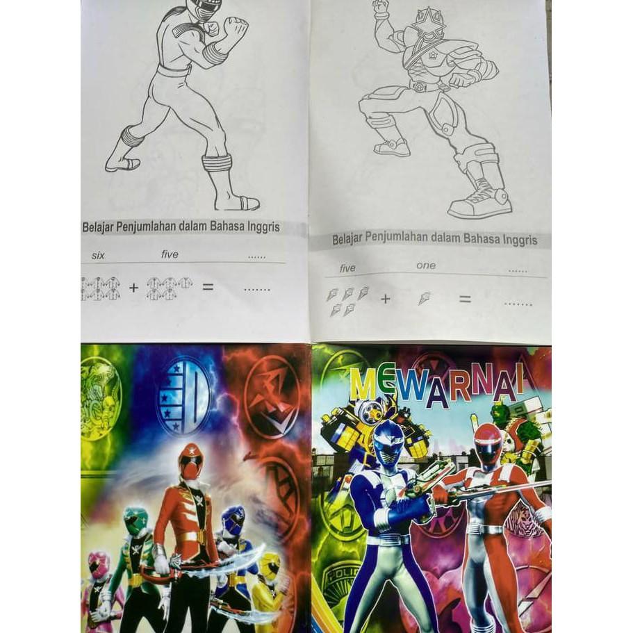 Buku Mewarnai Anak Power Rangers