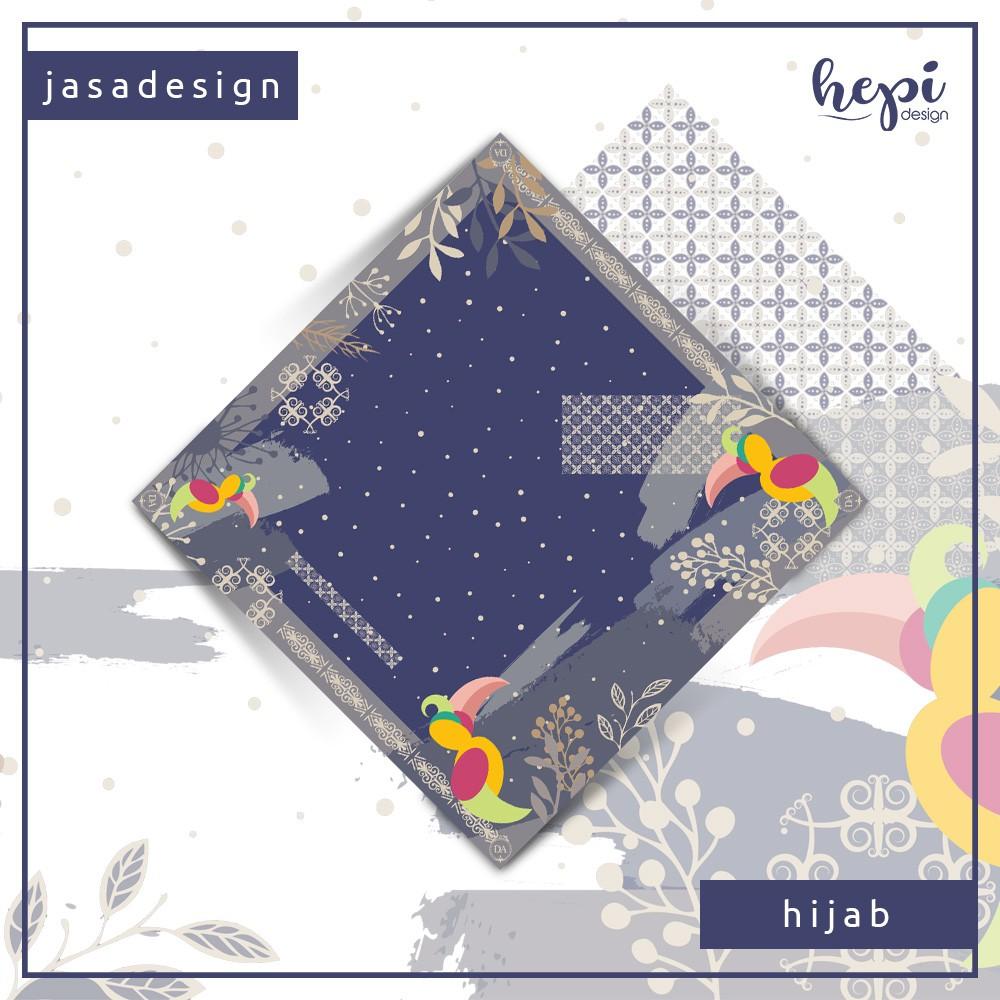 Jasa Desain Pattern Scarf Hijab Voal Kerudung