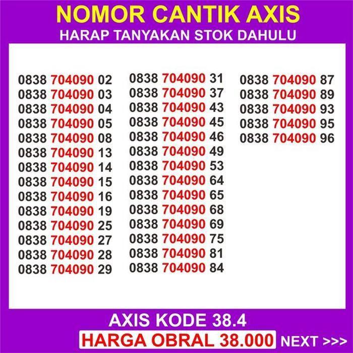 axis hitz 11 digit nomer cantik axis 11 digit