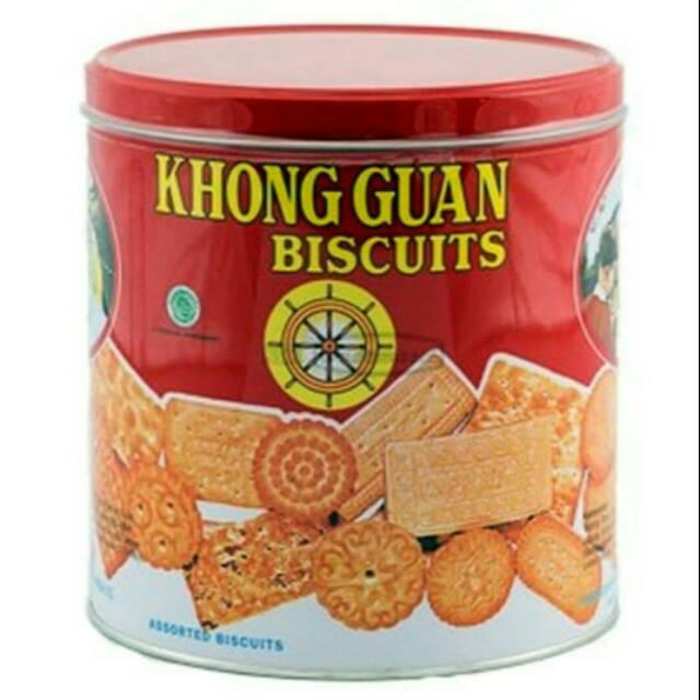 Biscuit Biskuit Khong Guan Kaleng Bulat 650 Gram Shopee Indonesia