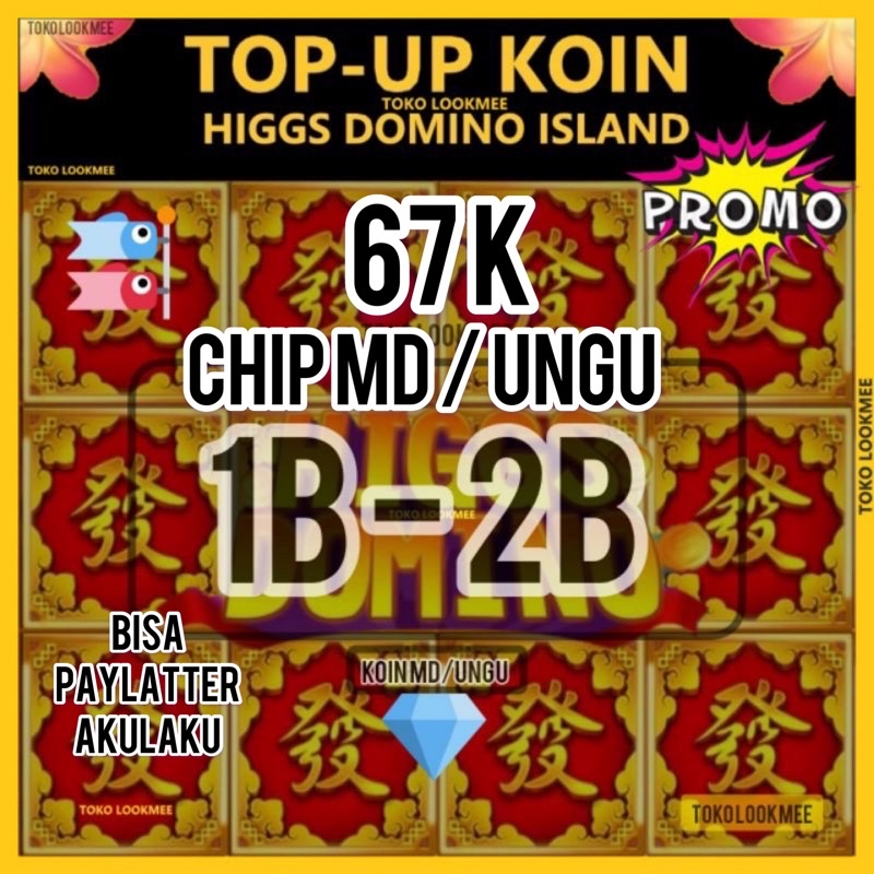TOP UP CHIP MD/UNGU KOIN DOMINO HIGGS ISLANDS