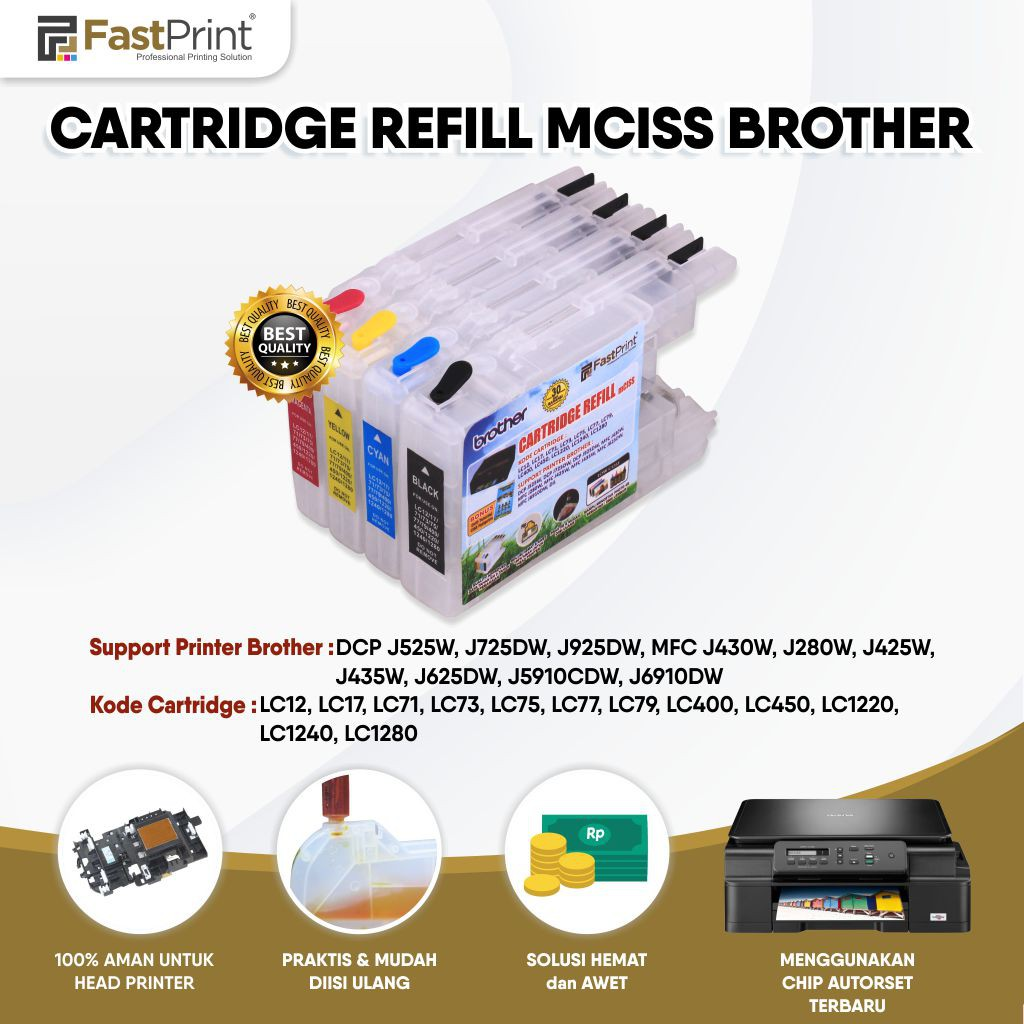 Refillable Brother Ink cartridge Empty CISS LC400 LC12 LC17 LC71 LC73 LC75 LC79