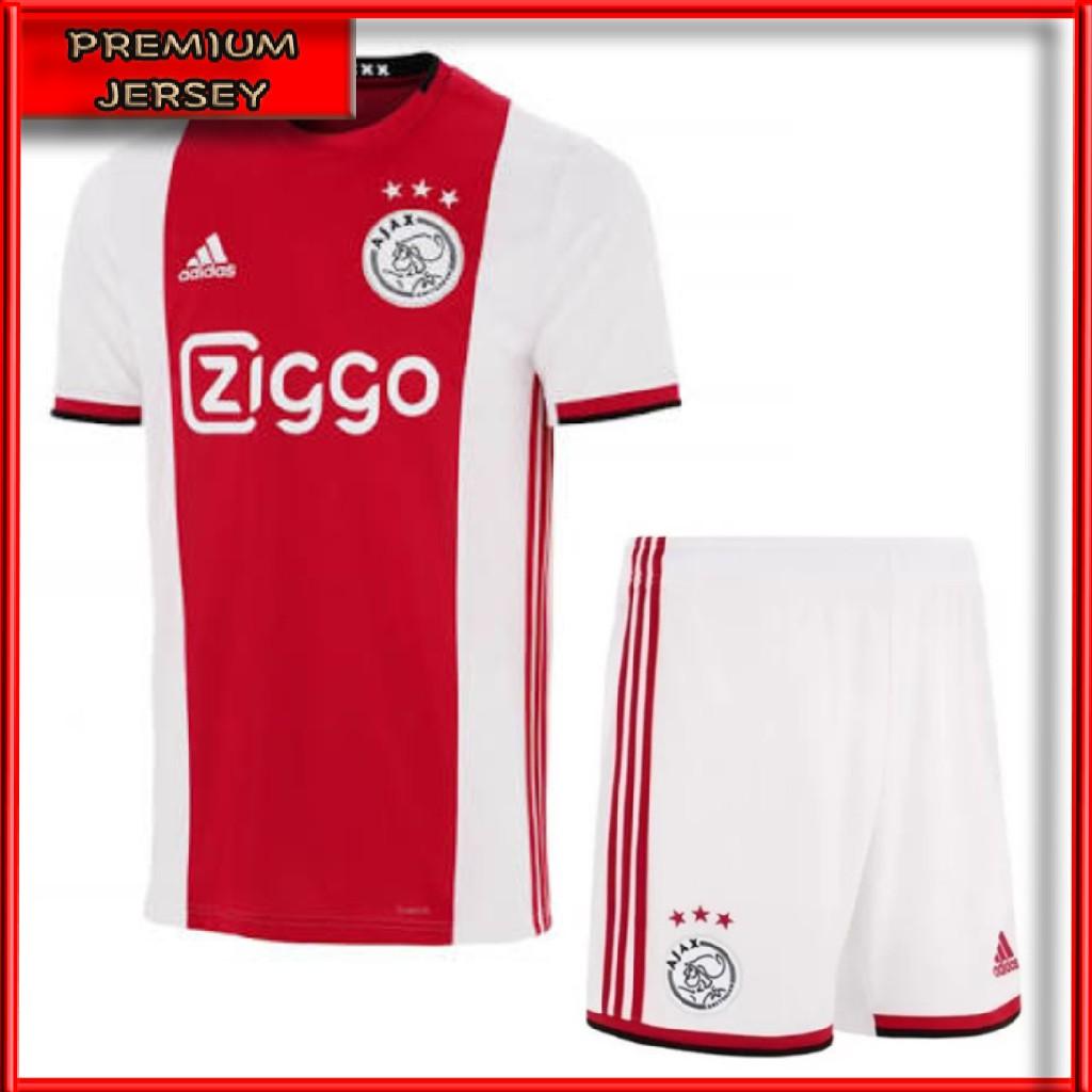 Setelan Jersey Bola Ajax Amsterdam Home 2019 2020 Grade Ori Import Baju Bola Ajax Home Terbaru Shopee Indonesia
