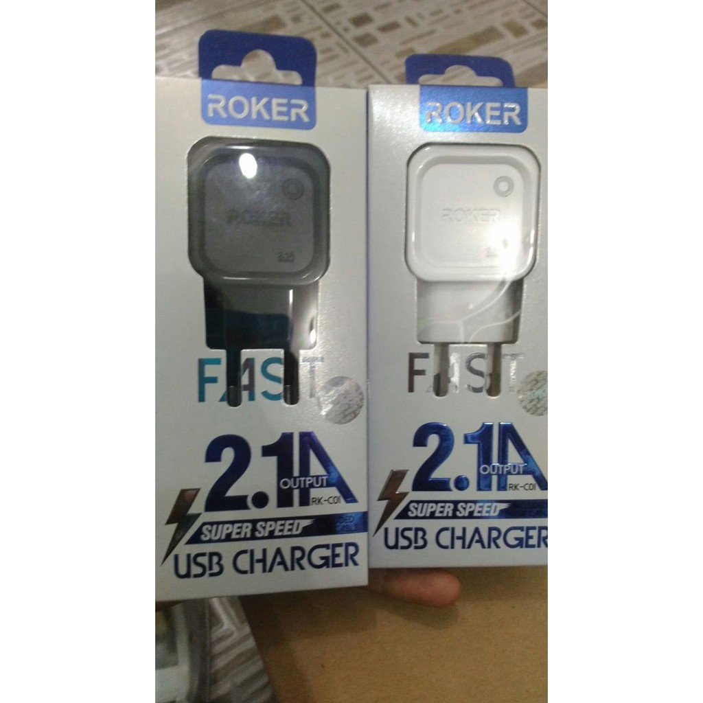 Charger Roker Fast Charging 21 Ampere For Android Shopee Indonesia Micro Usb 5 Pin 2 1