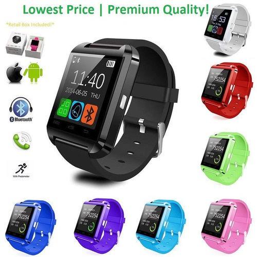 Gadget: U8 Smartwatch Bahan Aluminium+Silikon dengan Bluetooth untuk Smartphone | Shopee Indonesia