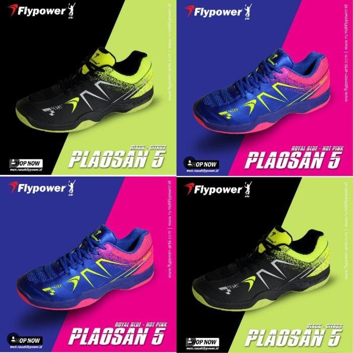 Sepatu flypower plaosan 5  new 2018  sepatu badminton  6e4aa35a72