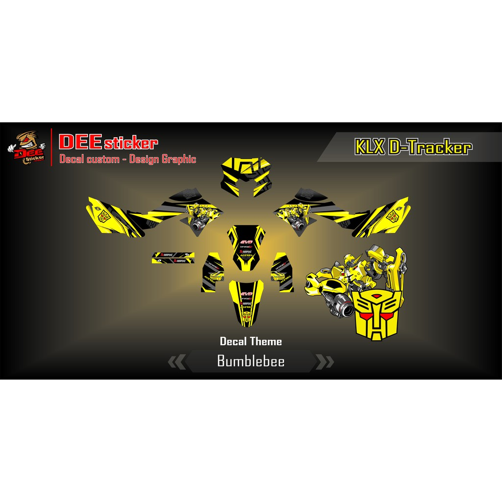 Decal klx d tracker bumblebee shopee indonesia