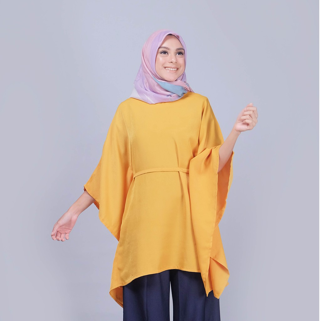 Zm Firly Tunik Shopee Indonesia Zaskia Mecca Fraya Navy