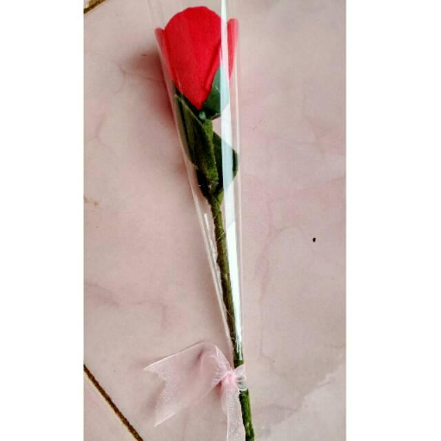 Bunga Mawar Flanel Pertangkai Shopee Indonesia