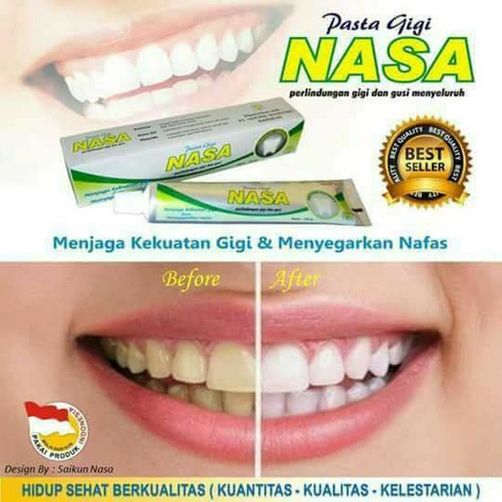 Pasta Gigi Nasa Odol Herbal Pemutih Gigi Shopee Indonesia