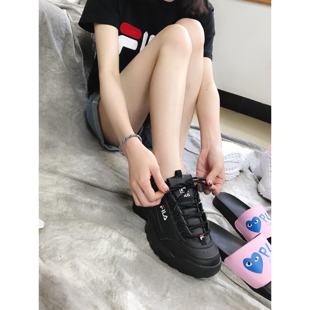 Jual Sepatu Kets Sekolah Wanita Warna Hitam Polos Murah