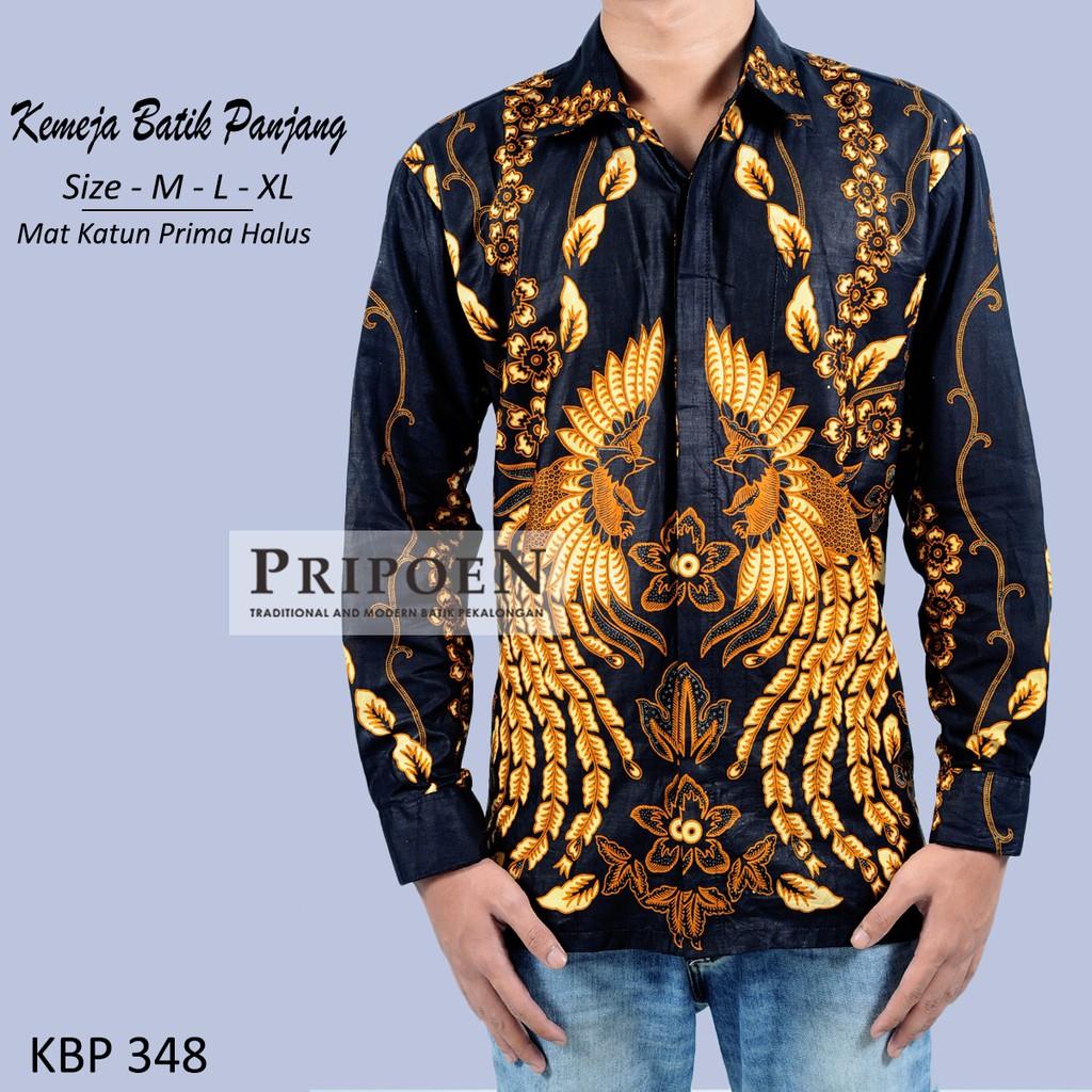Pripoen Batik KBP348 - KEMEJA BATIK PRIA LENGAN PANJANG  c152cf21c8